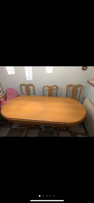 Mesa comedor y 6 sillas