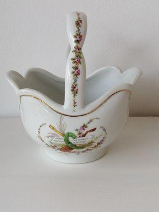 Cesta pequeña porcelana Guillen