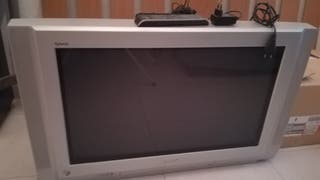 tv 35 pulgadas, tubo +tdt y mando