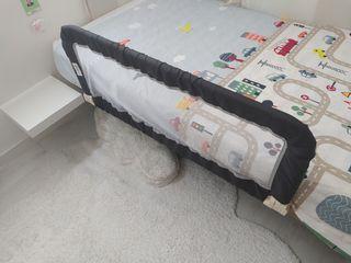 barrera extensible cama bebe 106cm