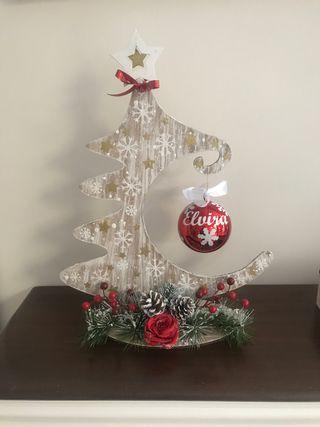Árbol de Navidad con bola personalizada