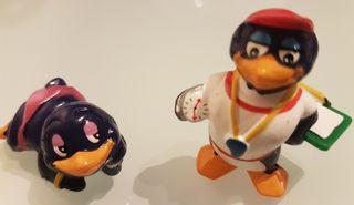 muñecos kinder años 90 pingüinos