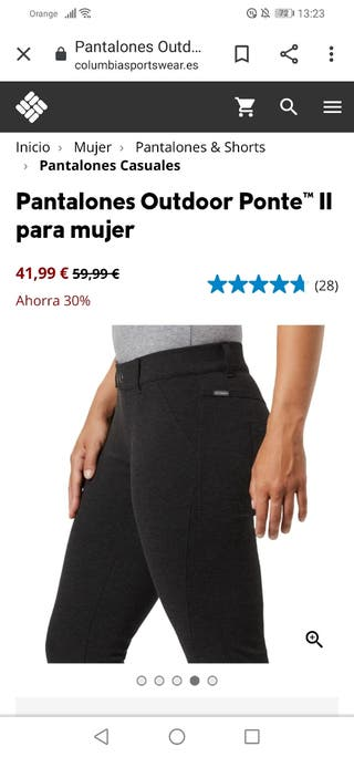 Pantalón Columbia mujer