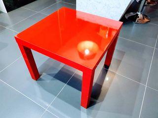Mesa LACK IKEA Roja