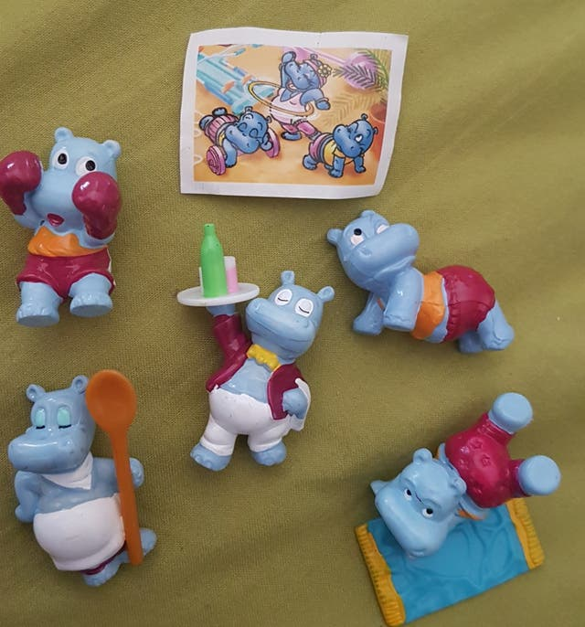 figuras kinder hipopótamos años 90