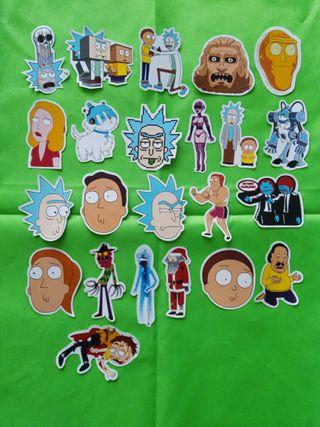 23 pegatinas vinilo Rick y Morty