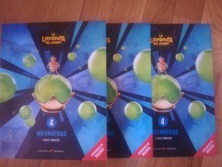 libros nuevos matemáticas 4primaria