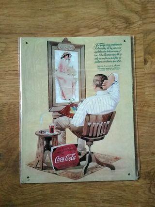Cartel de chapa - Anuncio Coca Cola