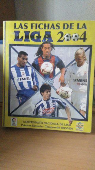 Álbum Las fichas de la LIGA 2004 (con 734 cromos)