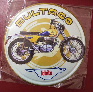 Cartel metal Bultaco Lobito 30cms