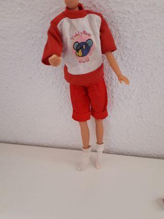 Ropa muñeca Barbie - pantalón rojo - Vintage.