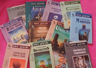12 libros de historias y cuentos con letra grande