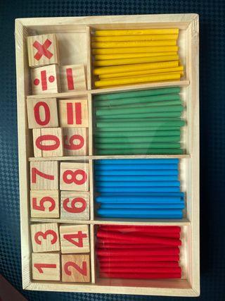 Palillos de madera matemáticas