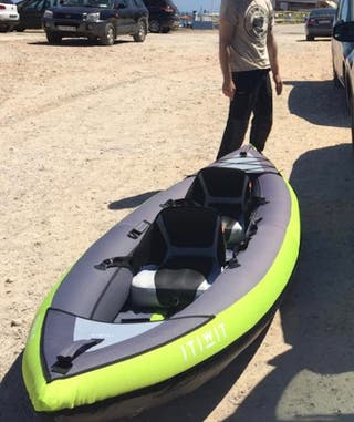 kayak hinchable + accesorios
