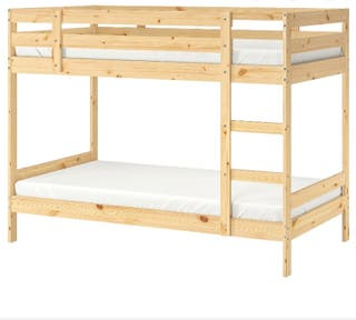 litera de madera Ikea poco uso