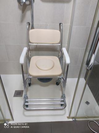 silla con ruedas para ducha 3 en 1