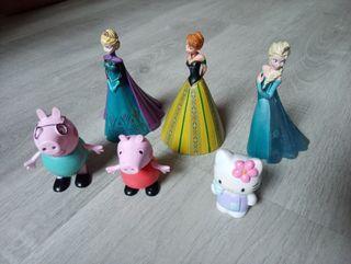 Muñecos de goma Frozen, Peppa pig, Hello Kitty