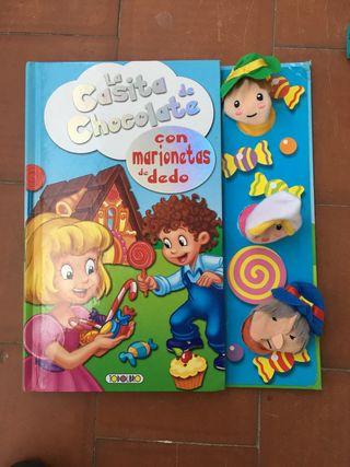 Libro la Casita de Chocolate con marionetas
