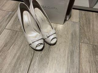 Zapatos de tacón para novias Rosa Clará