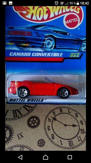 Camaro convertible Red Hot wheels 1997