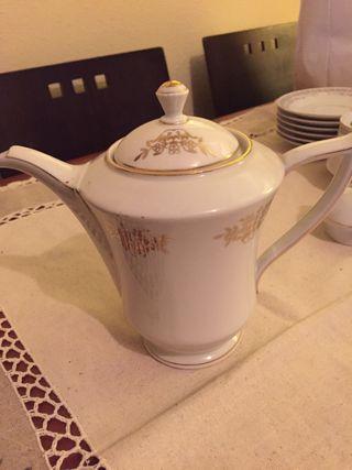 Vintage cafetera porcelana Checoslovaca