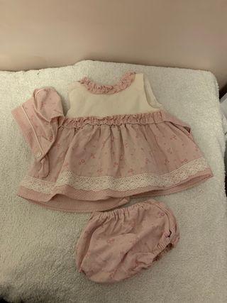 Vestido niña conjunto 6 meses