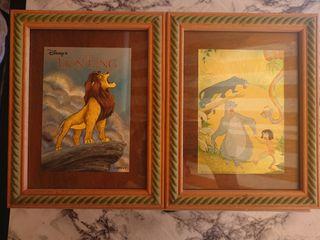 2 Postales originales de Disney enmarcadas