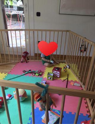 Parque infantil madera 8 piezas