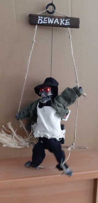 fantasmas Halloween 34 cm en columpio total 52 cm