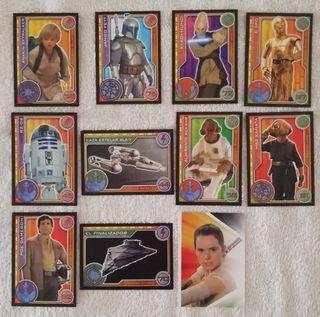 Lote 11 cromos Star Wars - el camino del jedi