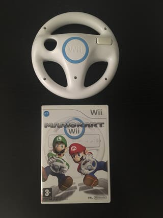 Lote Mario Kart + volante Wii