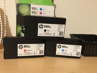 HP 950XL Black + 951XL Cyan + 951XL Magenta