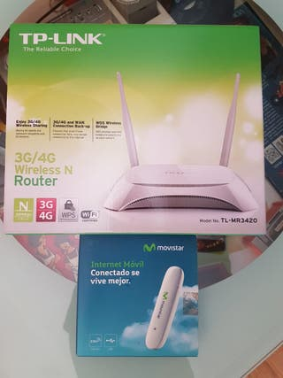 Router WIFI N 300 más con pincho Movistar 3G