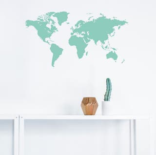 LIQUIDACIÓN. Vinilo decorativo Mapa Mundi. NUEVO.