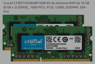 Memoria RAM 16 GB (8 GB x 2) DDR3L