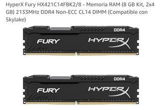Memoria RAM (8 GB Kit, 2x4 GB) 2133MHz DDR4