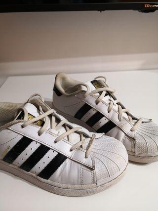 zapatillas Adidas superstar niños talla 35