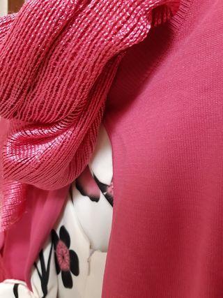 Vestido fiesta/blanco - rosa