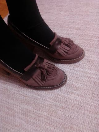 zapatos de tacón ancho 41