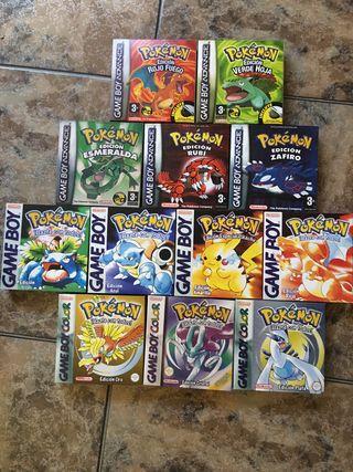 Cajas Pokemon Alta Calidad/ Game Boy/ Nintendo 64