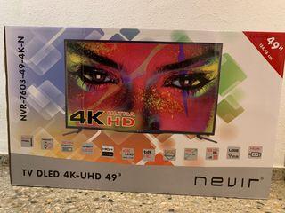 """Tv Nevir 49"""" DLED 4K muy buen estado"""