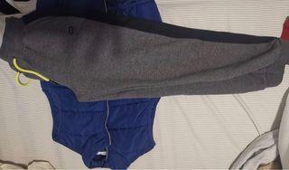 Chaquetón pluma + pantalón de chándal