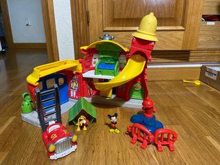 Casa bomberos Mickey Mouse