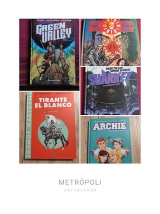 Pack 5 cómics actuales