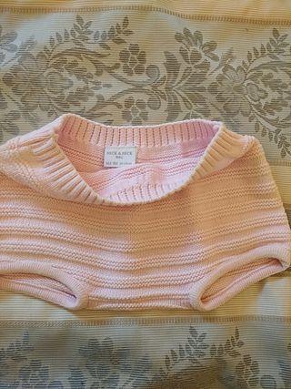 Pantalon culote rosa Niña 6-9M Neck
