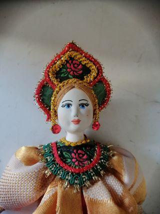 Muñeca rusa porcelana decoración vintage