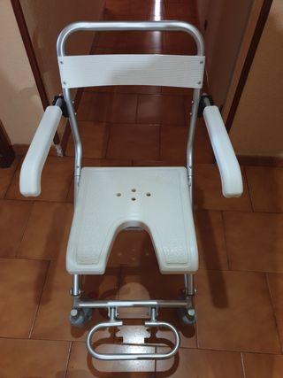 silla de ruedas plegable ducha