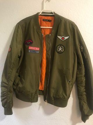Chaqueta bomber aviador + falda