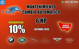 Mantenimiento cambio automático 6HP 10% descuento