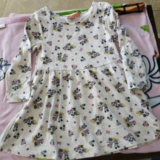 Vestido Minnie y Mickey Mouse Talla 5 años -6años